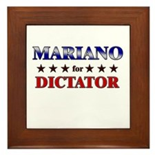 MARIANO for dictator Framed Tile