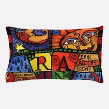 Sun, Moon and Rain Celestial Design Pillow Case