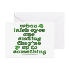 When Irish Eyes Are Smiling Joke Greeting Cards (P