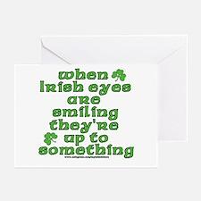 When Irish Eyes Are Smiling Joke Greeting Cards (P
