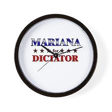 MARIANA for dictator Wall Clock