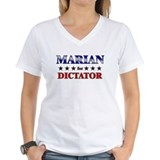 Marian for dictator Womens V-Neck T-shirts