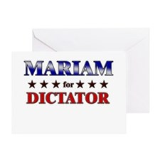MARIAM for dictator Greeting Card