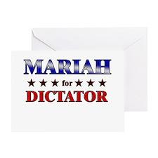 MARIAH for dictator Greeting Card