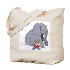 Elephant Boy Tote Bag