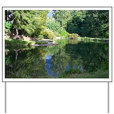 Fishing Pond Yard Sign