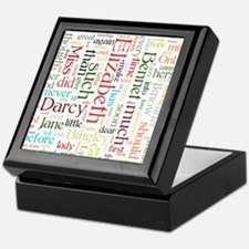 Pride & Prejudice Word Cloud Keepsake Box