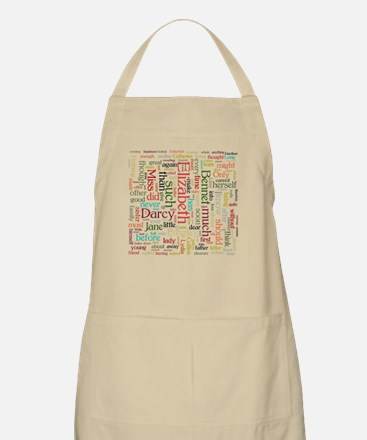 Pride & Prejudice Word Cloud Apron