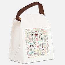 Pride & Prejudice Word Cloud Canvas Lunch Bag