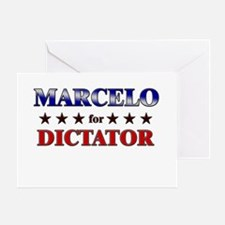 MARCELO for dictator Greeting Card