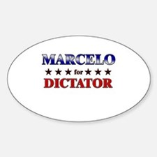 MARCELO for dictator Oval Decal