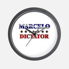 MARCELO for dictator Wall Clock