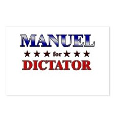 MANUEL for dictator Postcards (Package of 8)