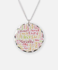 Sense & Sensibility Word Cloud Necklace