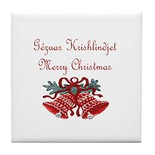 Albanian Christmas Tile Coaster