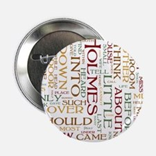 "Sherlock Holmes Word Cloud 2.25"" Button (10 pack)"