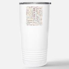 Sherlock Holmes Word Cloud Travel Mug