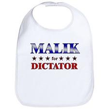 MALIK for dictator Bib