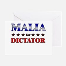 MALIA for dictator Greeting Card