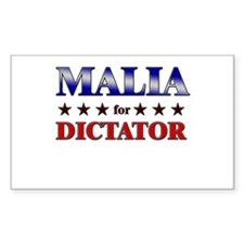 MALIA for dictator Rectangle Decal