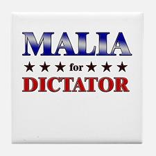 MALIA for dictator Tile Coaster