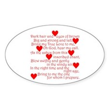 Love Spell #1 Oval Decal