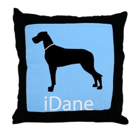 iDane (Natural) Throw Pillow