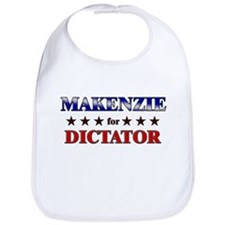 MAKENZIE for dictator Bib