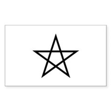 Pentagram Rectangle Decal