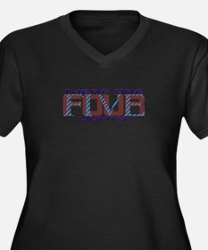 There are four lights B Women's Plus Size V-Neck D