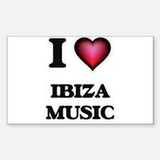 I Love IBIZA MUSIC Decal