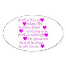 Love Spell #2 Oval Decal