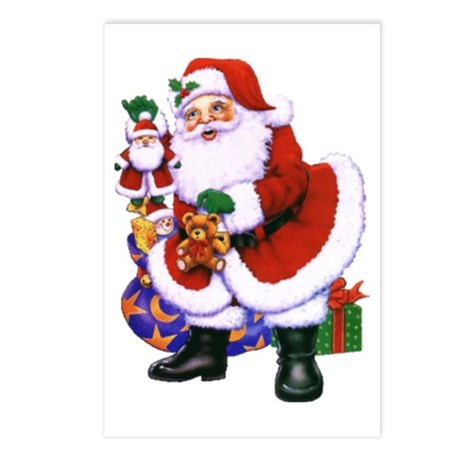 Santa Claus Postcards (Package of 8)