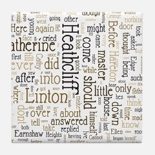 Wuthering Heights Word Cloud Tile Coaster