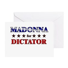 MADONNA for dictator Greeting Card