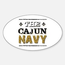 the Cajun Navy blck and gold Decal