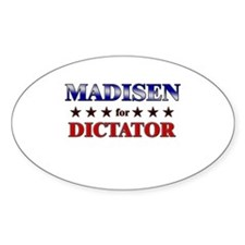 MADISEN for dictator Oval Decal