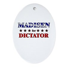 MADISEN for dictator Oval Ornament