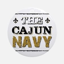 the Cajun Navy blck and gold Round Ornament