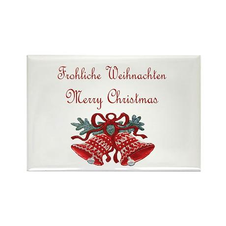 German Christmas Rectangle Magnet
