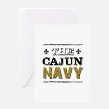 the Cajun Navy blck and gold Greeting Cards