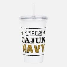 the Cajun Navy blck an Acrylic Double-wall Tumbler