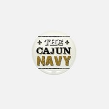 the Cajun Navy blck and gold Mini Button