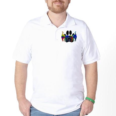 PEACE CATS Golf Shirt