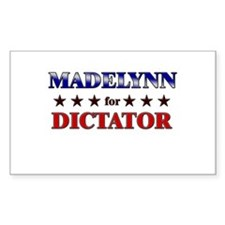 MADELYNN for dictator Rectangle Decal