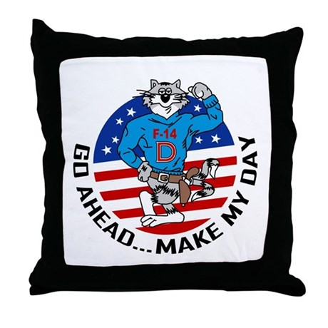 F-14D Super Tomcat Throw Pillow