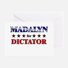 MADALYN for dictator Greeting Card