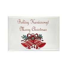 Hungarian Christmas Rectangle Magnet