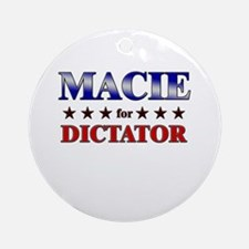 MACIE for dictator Ornament (Round)