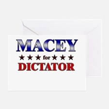 MACEY for dictator Greeting Card